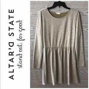 Altar'd State | NWT Light Olive Sweater Dress (L)